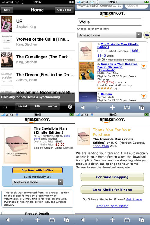 iPhone Kindle Store
