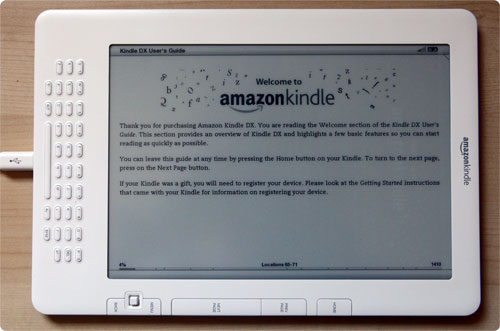 Kindle DX Landscape