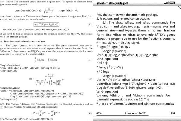 Kindle DX vs. Kindle 2 PDF Support