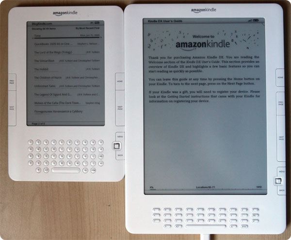 Kindle DX vs. Kindle 2