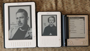 Kindle DX, Kindle 2, Sony PRS-505