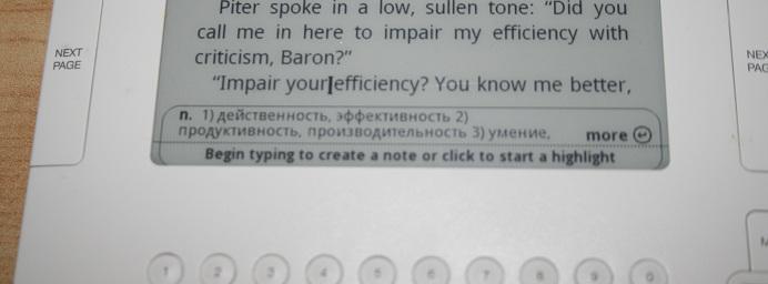 Amazon Kindle 2 Translation Feature