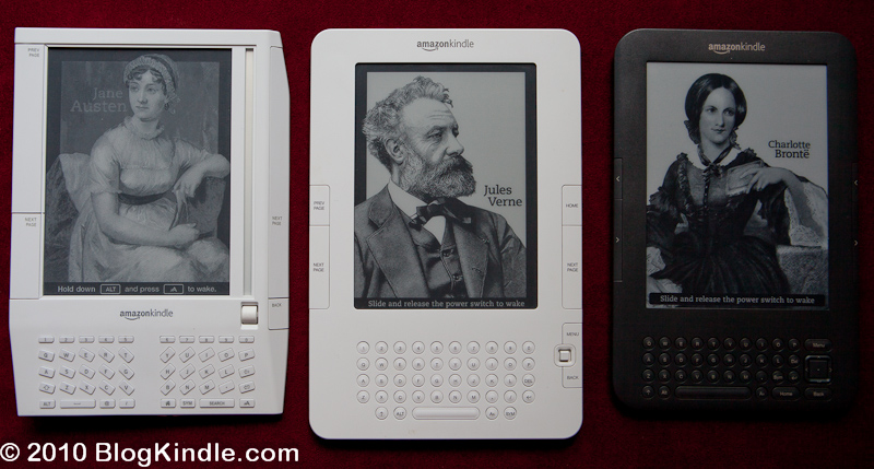 Kindle 1,2 and 3 side by side