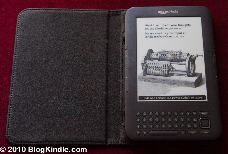 Kindle 3 in Leather Cover