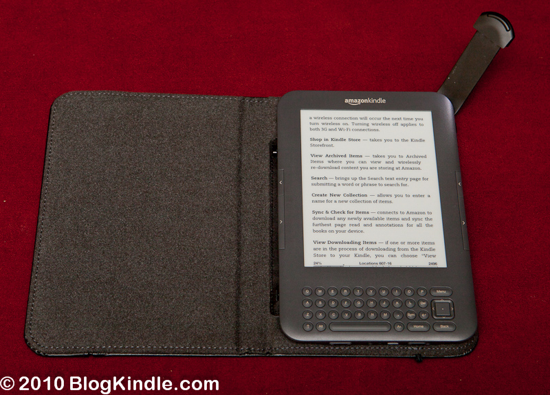 Kindle 3 in Lighted Leather Cover
