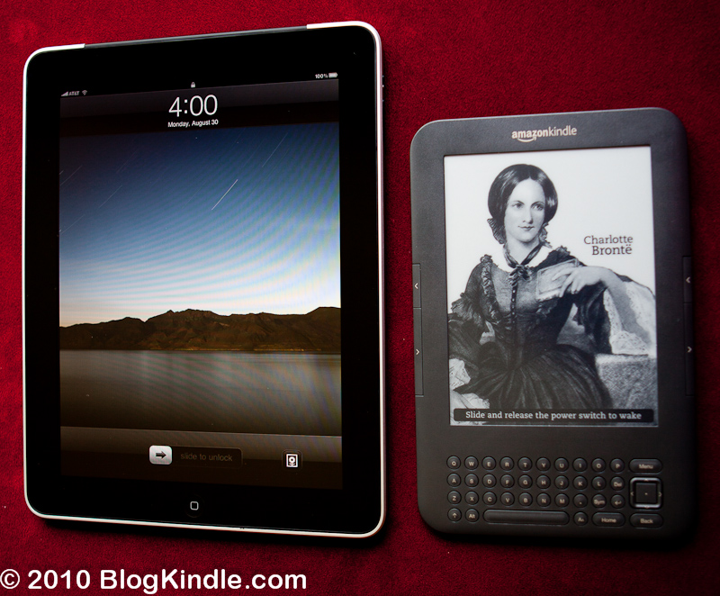 Kindle 3 vs Apple iPad