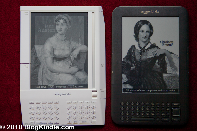 Kindle 3 and Kindle 1 side by side
