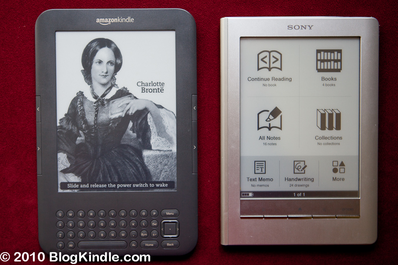 Kindle 3 vs Sony PRS-600 Touch Edition