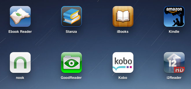 Apple iPad eBook Reader Apps