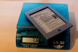 Kindle Touch Weight
