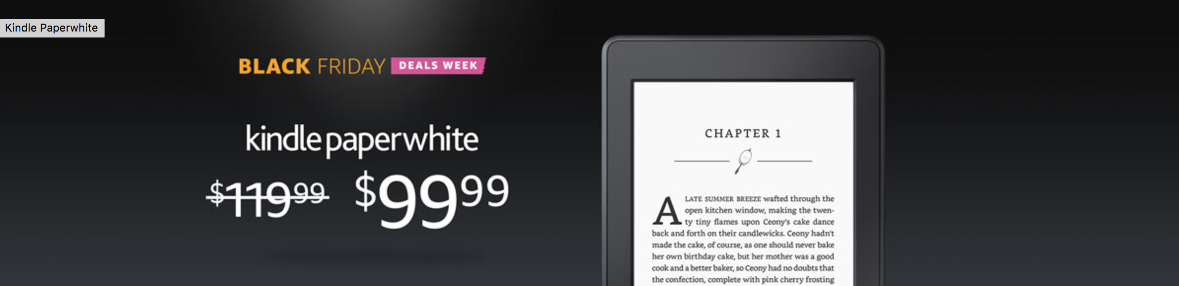 Kindle Paperwhite Black Friday – Amazon Black Friday Deals